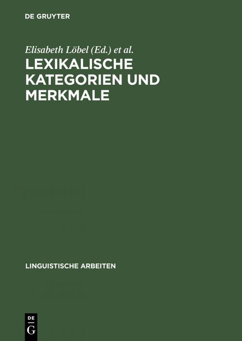 Lexikalische Kategorien und Merkmale cover