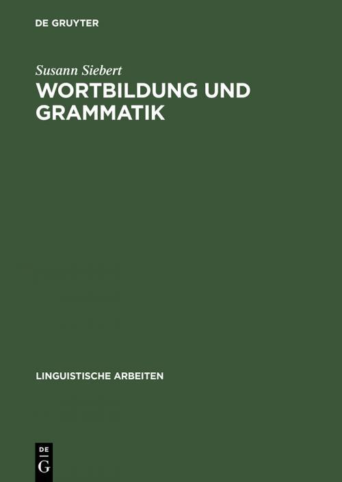 Wortbildung und Grammatik cover
