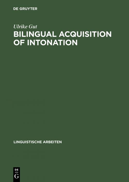 Bilingual Acquisition of Intonation cover