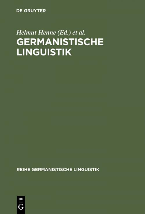 Germanistische Linguistik cover