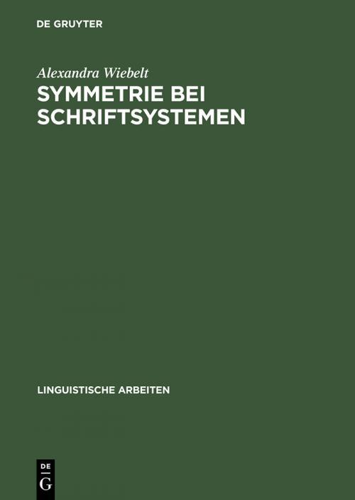 Symmetrie bei Schriftsystemen cover