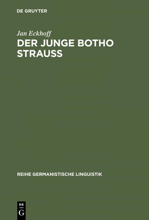 Der junge Botho Strauß cover