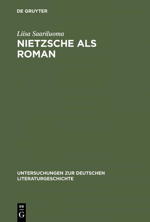 Nietzsche als Roman cover