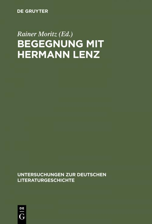 Begegnung mit Hermann Lenz cover