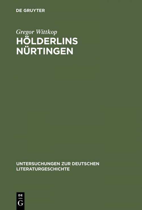 Hölderlins Nürtingen cover