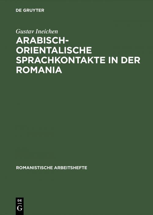 Arabisch-orientalische Sprachkontakte in der Romania cover