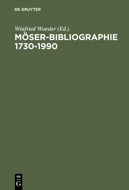 Möser-Bibliographie 1730–1990 cover