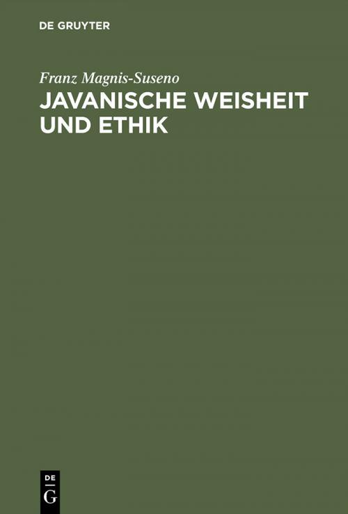 Javanische Weisheit und Ethik cover