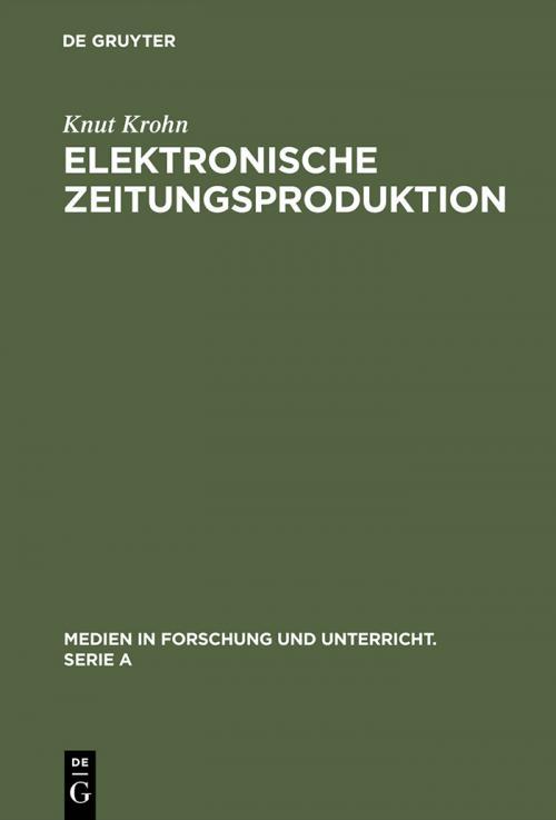 Elektronische Zeitungsproduktion cover