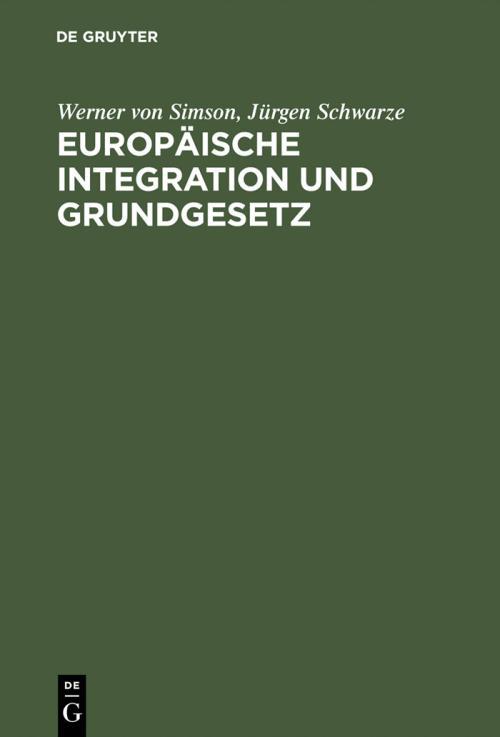 Europäische Integration und Grundgesetz cover
