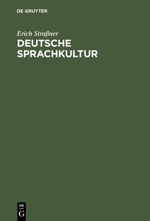 Deutsche Sprachkultur cover