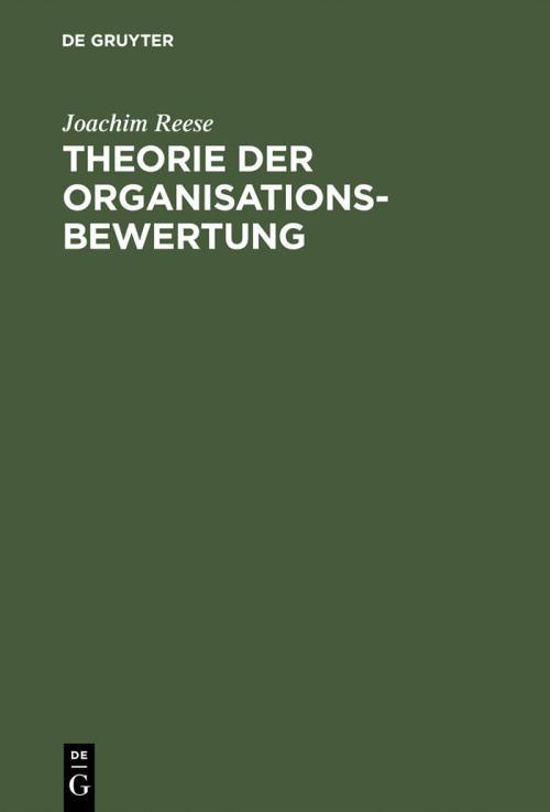 Theorie der Organisationsbewertung cover