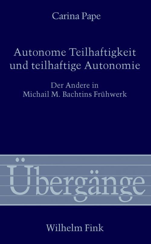 Autonome Teilhaftigkeit und teilhaftige Autonomie cover