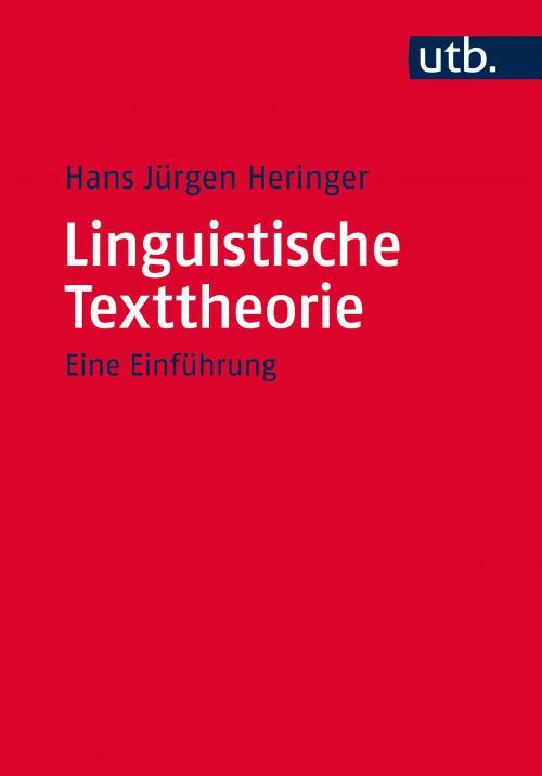 Linguistische Texttheorie cover