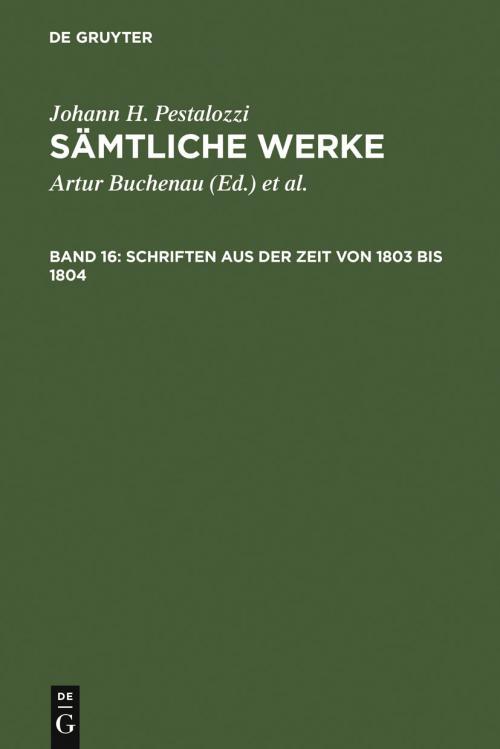 Schriften aus der Zeit von 1803 bis 1804 cover