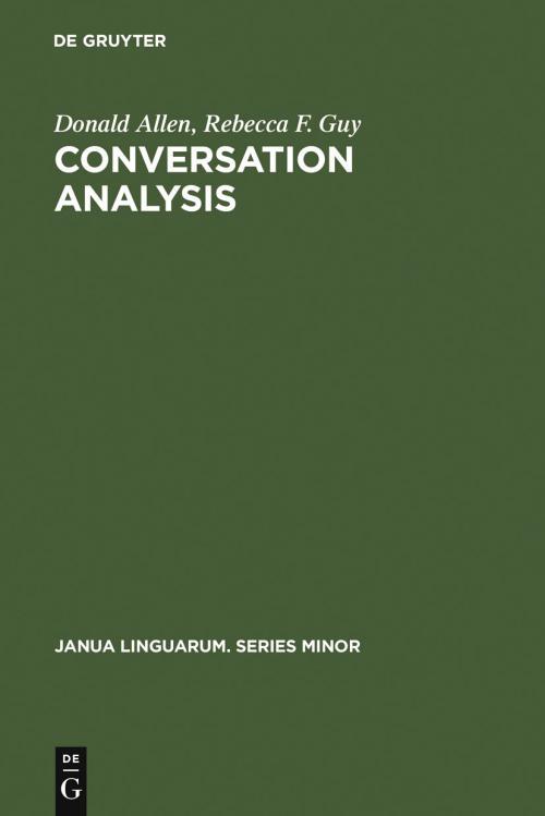 Conversation Analysis cover