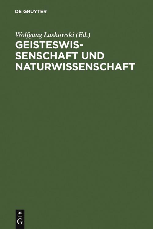 Geisteswissenschaft und Naturwissenschaft cover