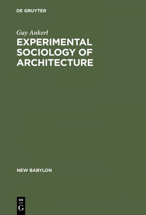 Experimental Sociology of Architecture cover