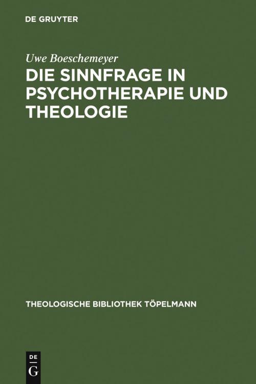 Die Sinnfrage in Psychotherapie und Theologie cover