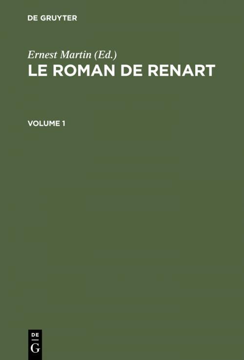 Le Roman de Renart cover