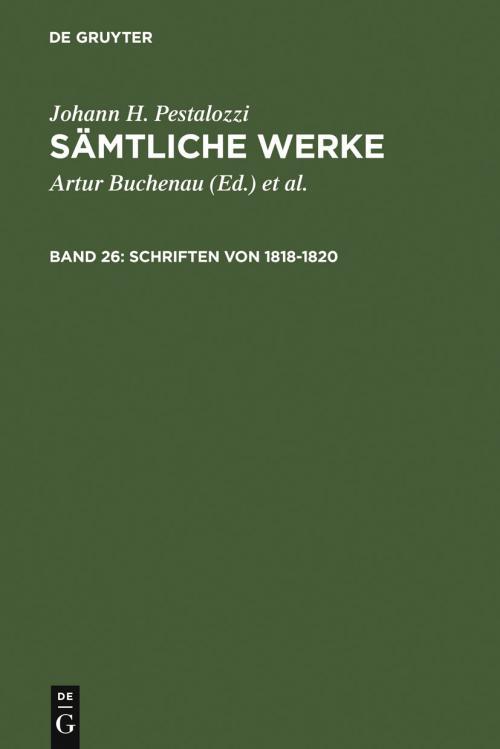 Schriften von 1818–1820 cover