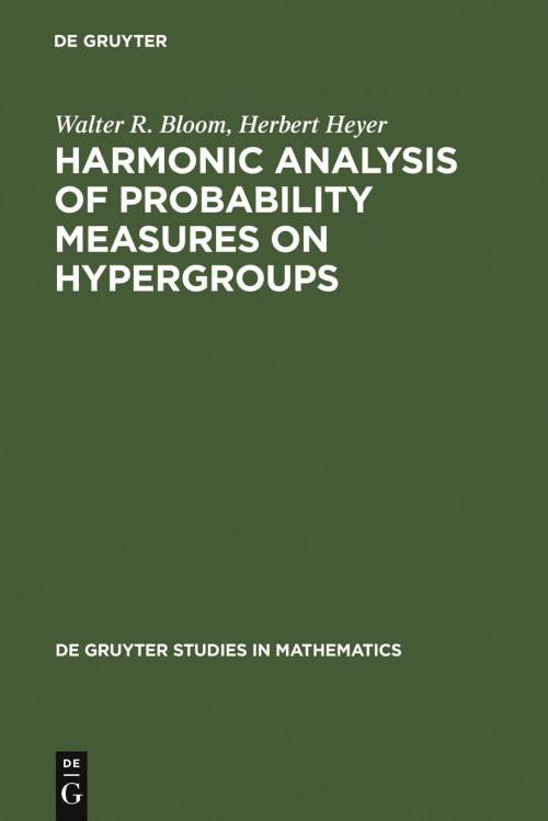 Harmonic Analysis of Probability Measures on Hypergroups cover
