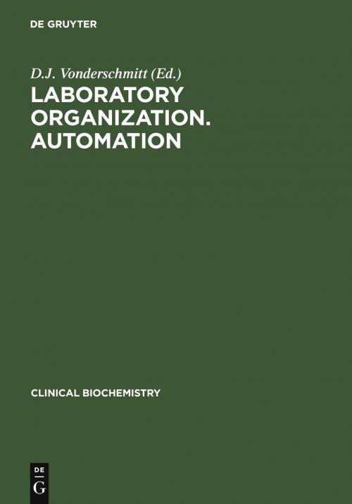 Laboratory Organization. Automation cover
