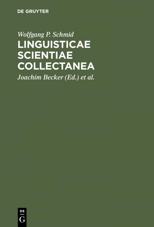 Linguisticae Scientiae Collectanea cover