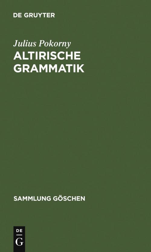 Altirische Grammatik cover