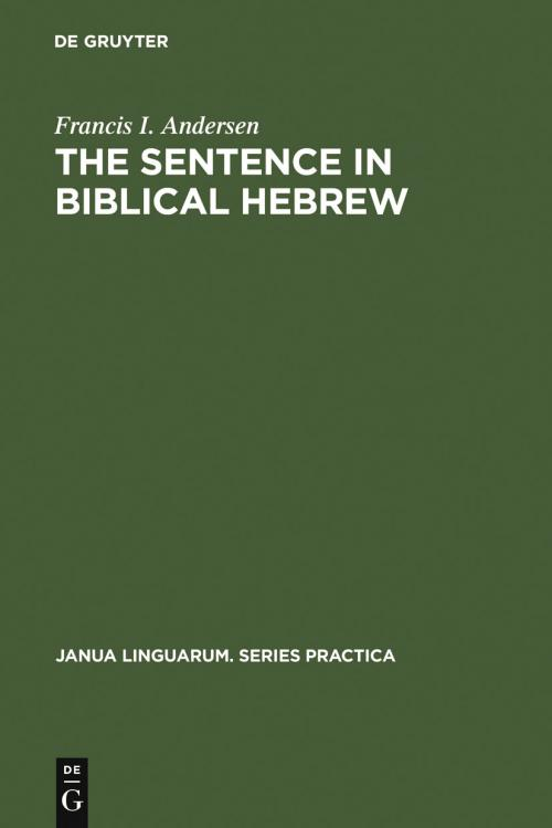 The Sentence in Biblical Hebrew cover