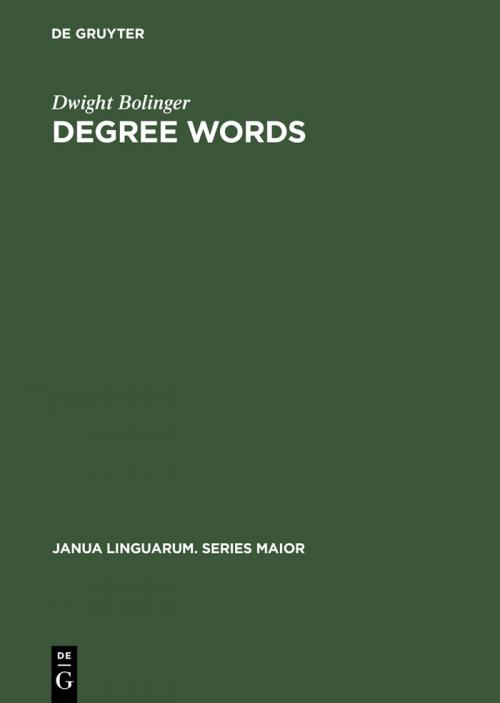Degree Words cover