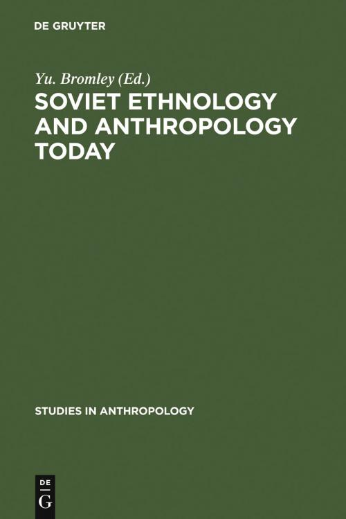 Soviet Ethnology and Anthropology Today cover