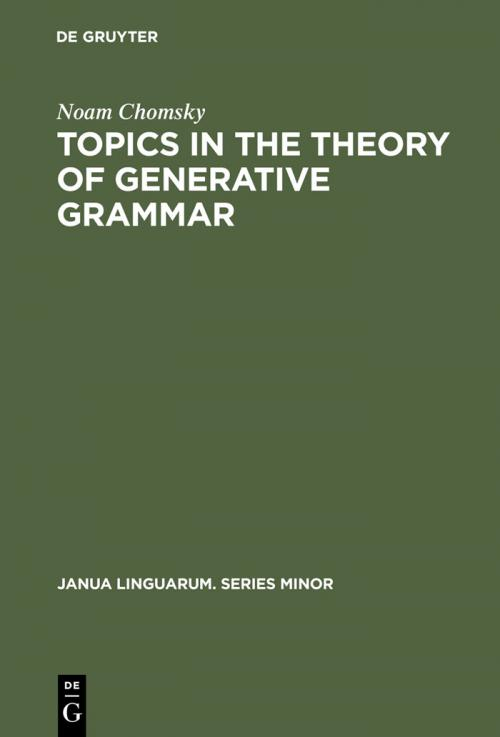 Topics in the Theory of Generative Grammar cover