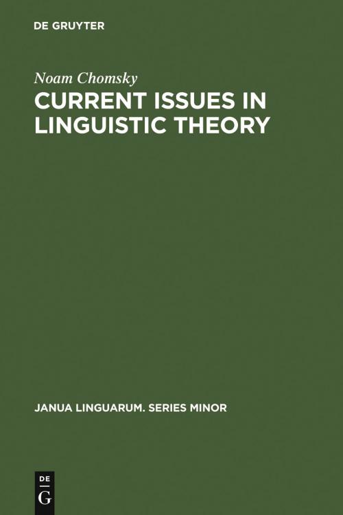 Current Issues in Linguistic Theory cover