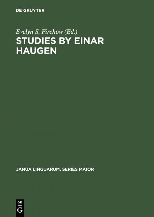 Studies by Einar Haugen cover