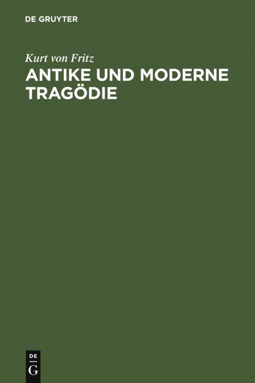 Antike und moderne Tragödie cover