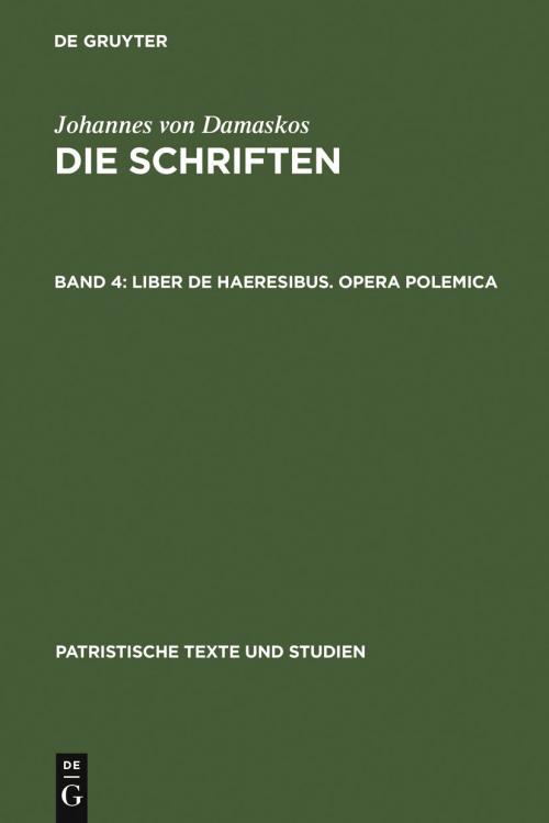 Liber de haeresibus. Opera polemica cover