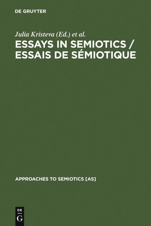 Essays in Semiotics /Essais de sémiotique cover