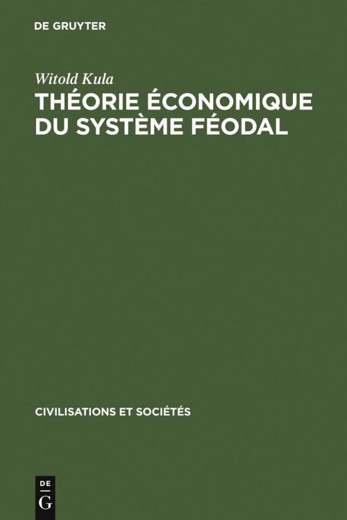 Théorie économique du système féodal cover