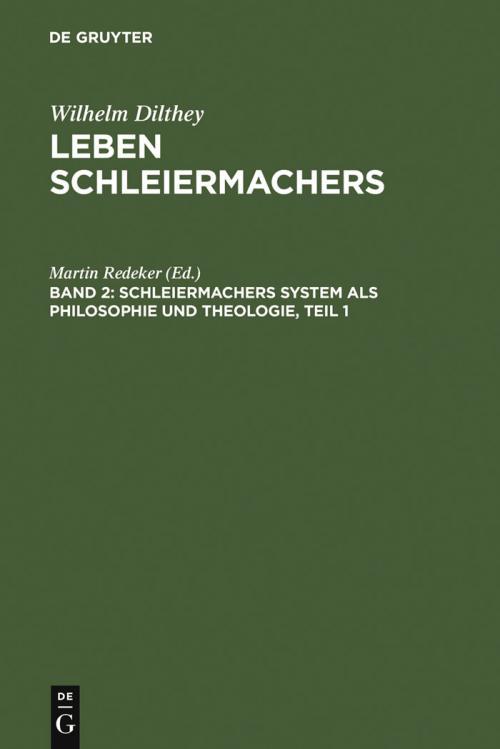 Schleiermachers System als Philosophie und Theologie cover