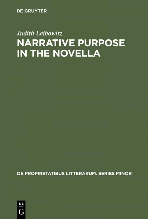Narrative Purpose in the Novella cover