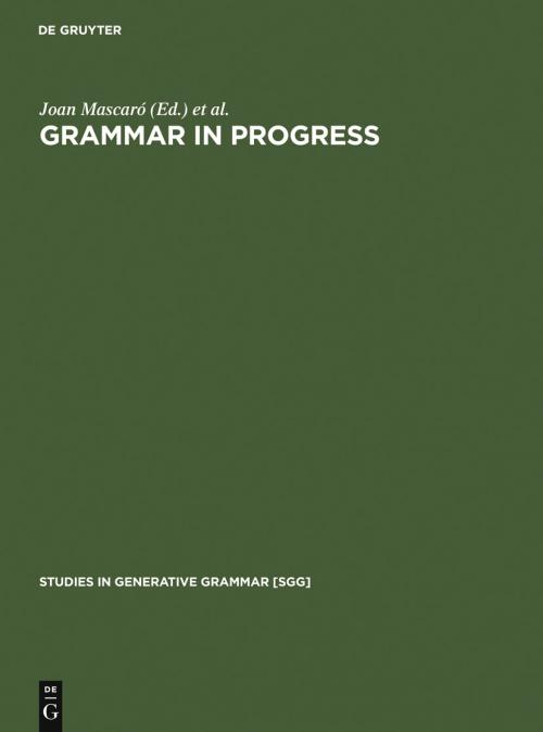 Grammar in Progress cover