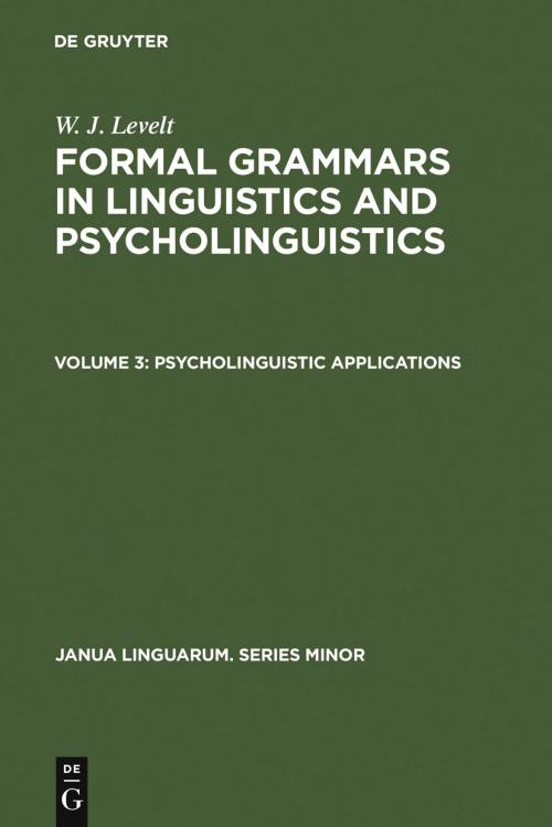 Psycholinguistic Applications cover