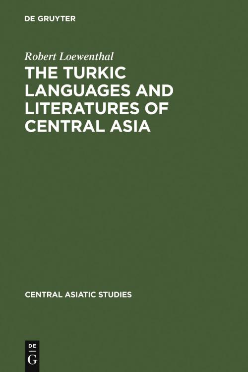 The Turkic Languages and Literatures of Central Asia cover