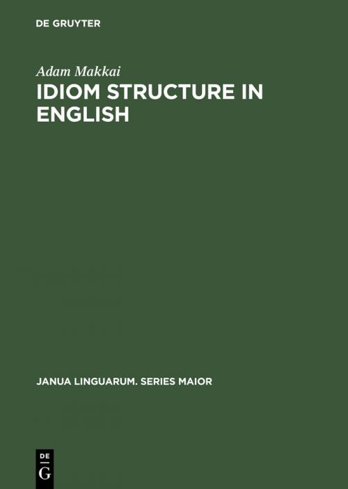 Idiom Structure in English cover