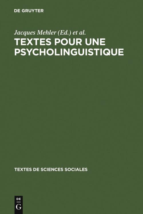 Textes pour une psycholinguistique cover