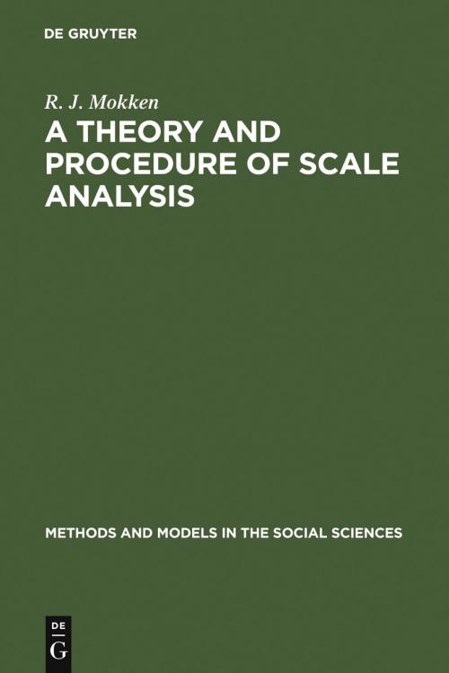 A Theory and Procedure of Scale Analysis cover