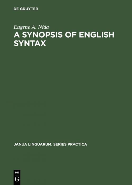 A Synopsis of English Syntax cover