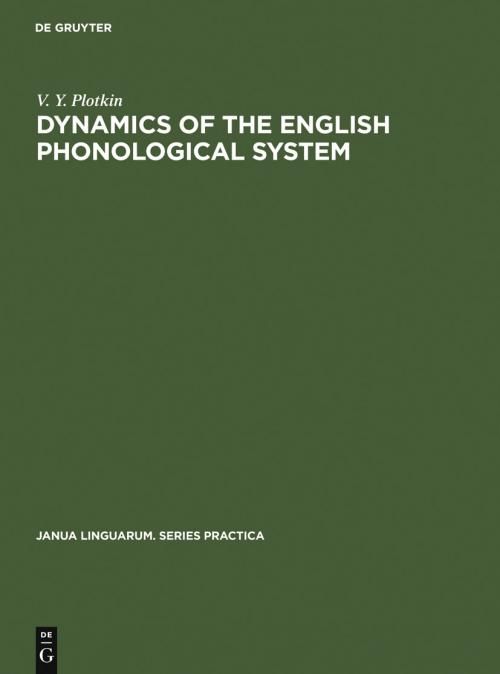 Dynamics of the English Phonological System cover