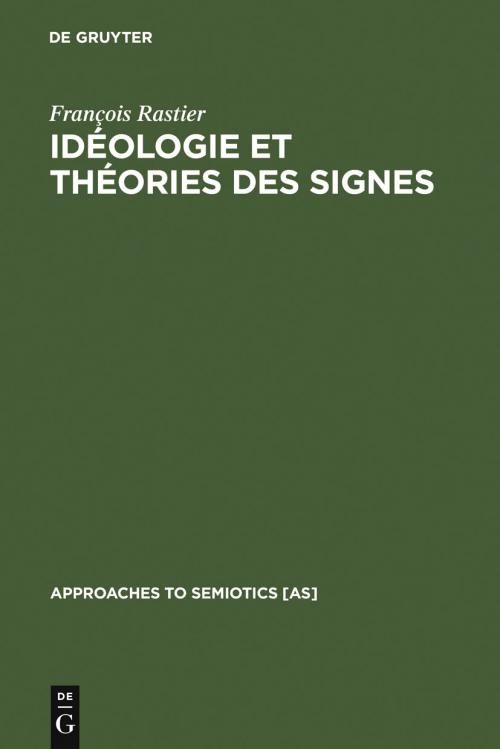 Idéologie et théorie des signes cover